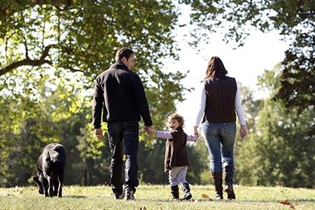 family outdoors walking 450x300
